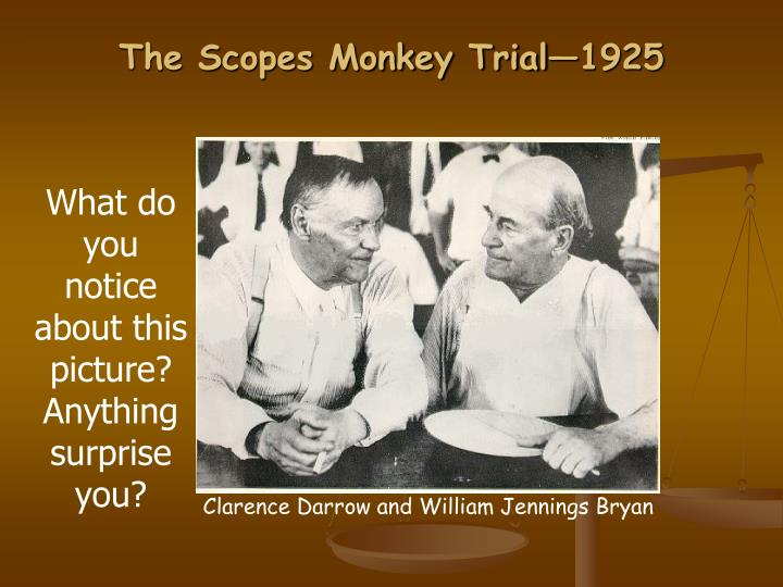 The Scopes Monkey Trial—1925