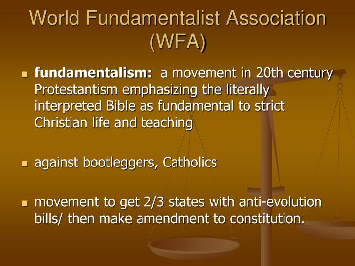 World Fundamentalist Association (WFA)