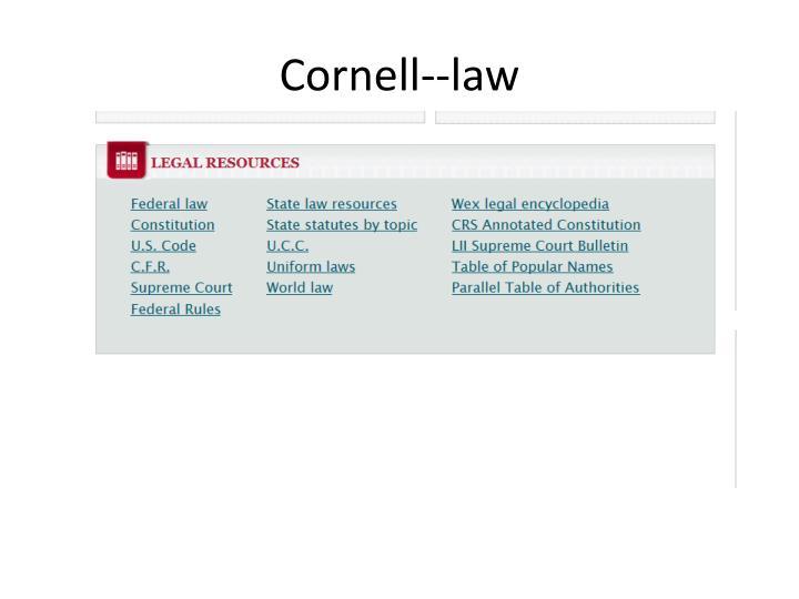 Cornell--law