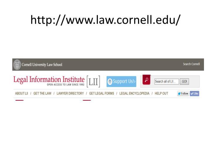 http://www.law.cornell.edu/