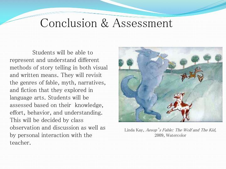 Conclusion & Assessment