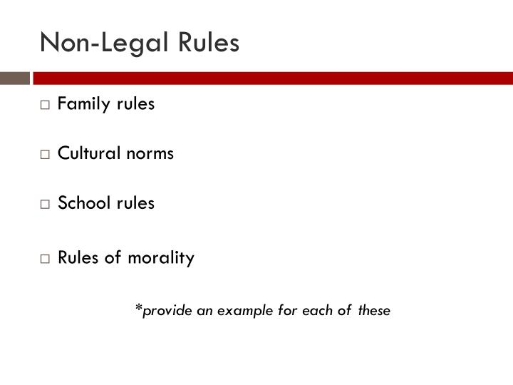 Non-Legal Rules