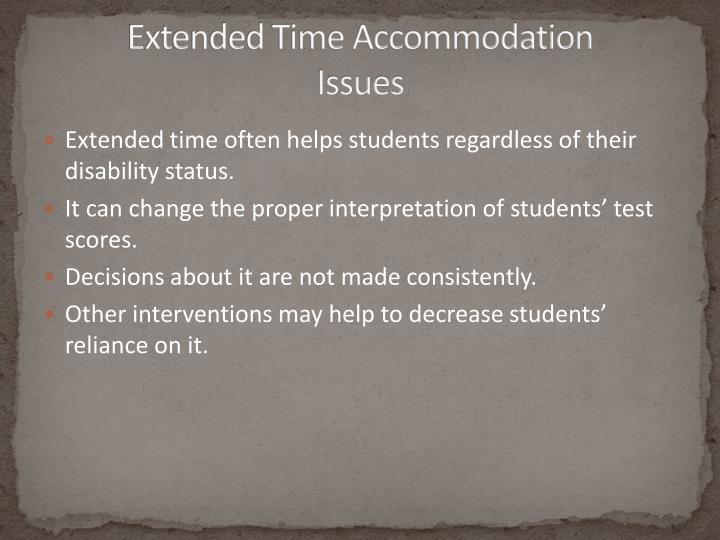 Extended Time Accommodation
