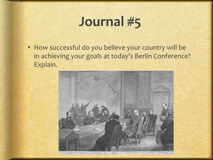 Journal #5