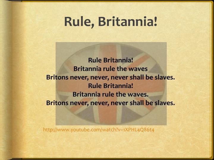 Rule, Britannia!