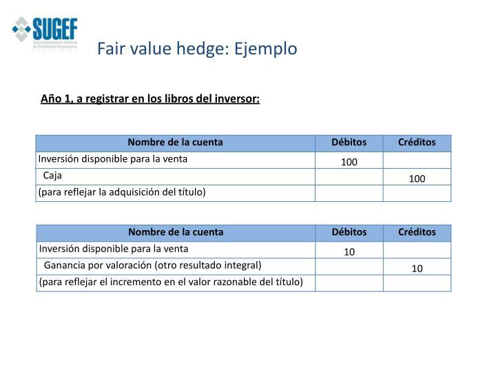 Fair value hedge: Ejemplo