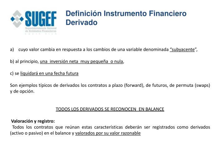 Definición Instrumento