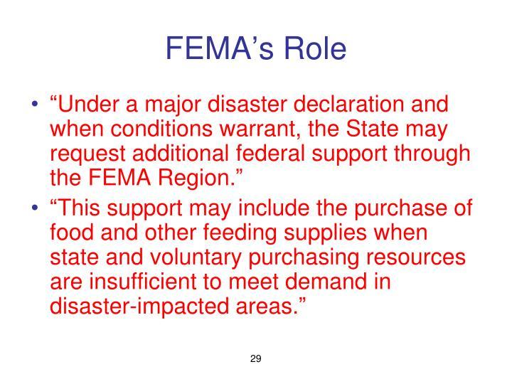 FEMA's Role