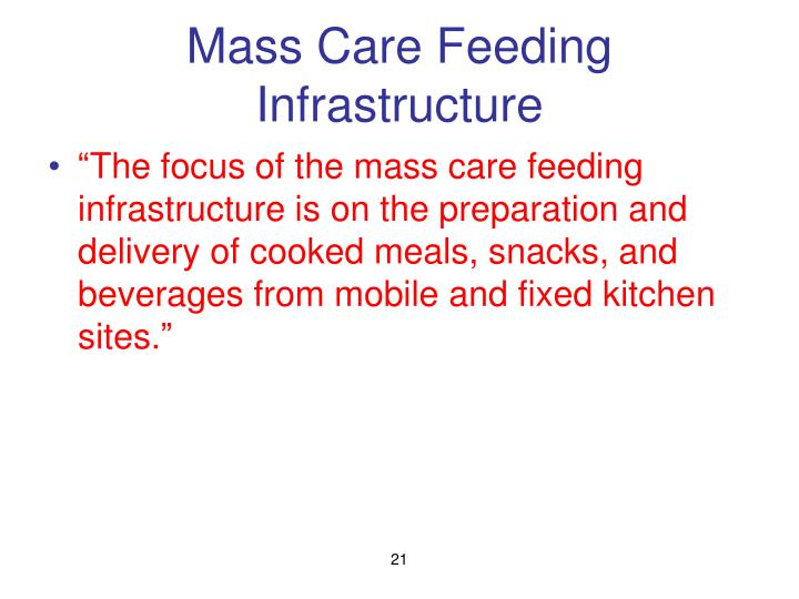 Mass Care Feeding Infrastructure