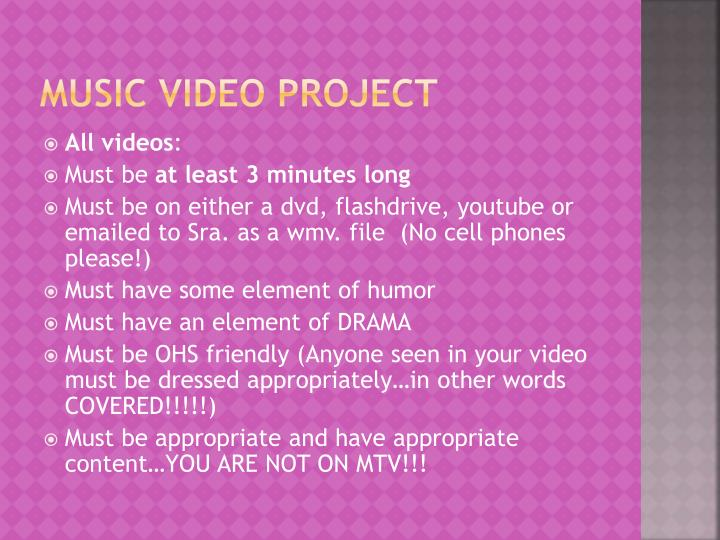 Music Video Project