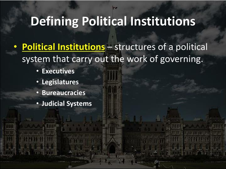 Defining political institutions