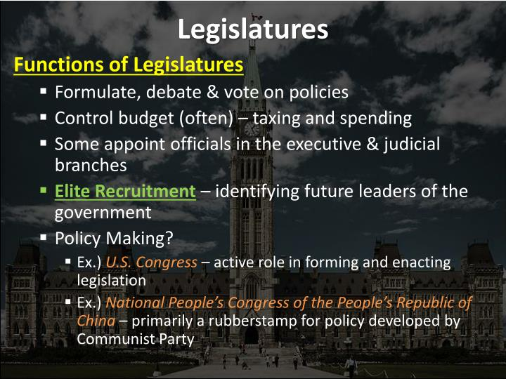 Legislatures