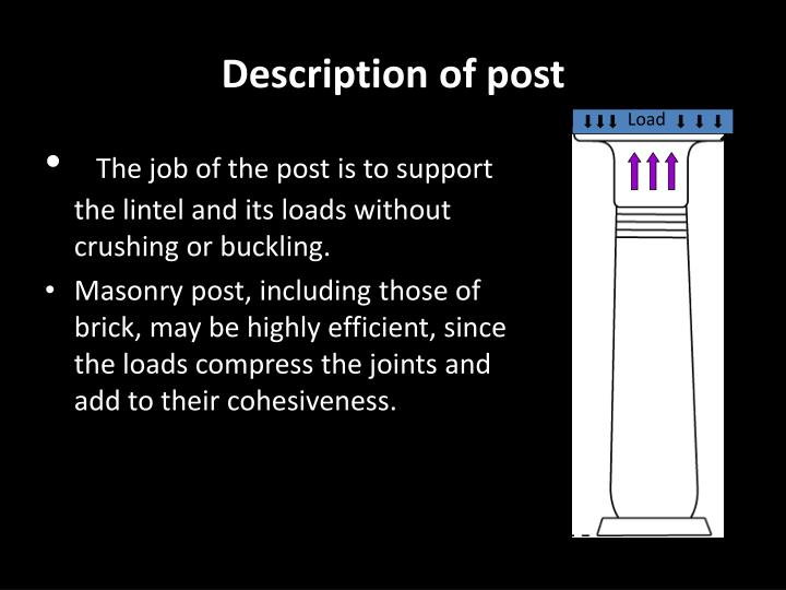 post and lintel systems Definitions of post-and-lintel, synonyms, antonyms, derivatives of post-and-lintel, analogical dictionary of post-and-lintel (english.