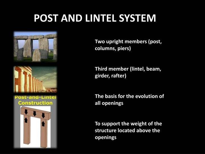 Post And Lintel : Ppt post and lintel system powerpoint presentation id
