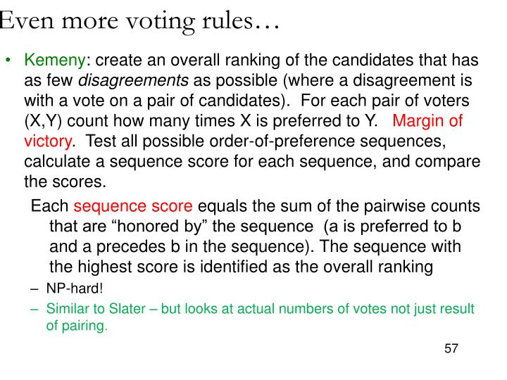 Even more voting rules…