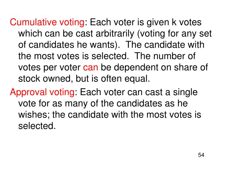 Cumulative voting