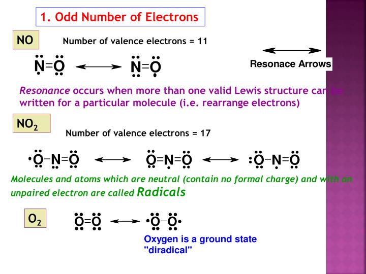 1. Odd Number of Electrons
