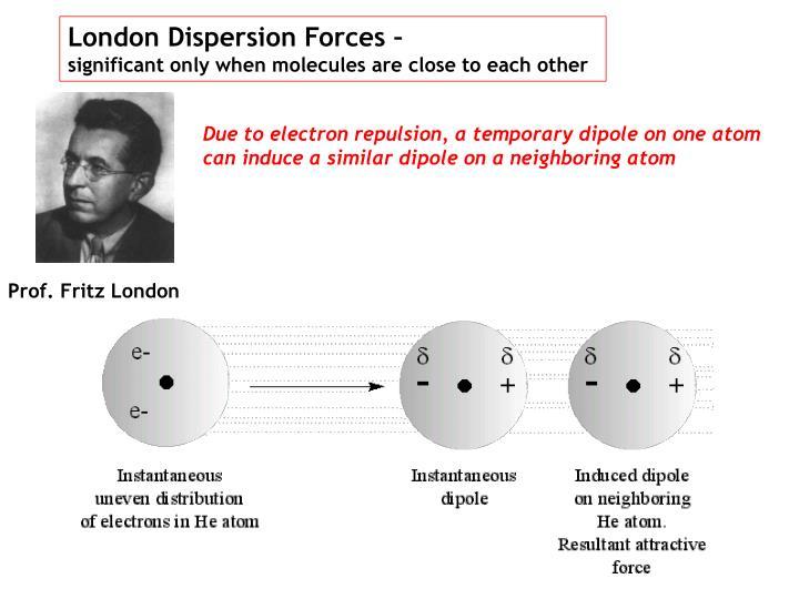 London Dispersion Forces –