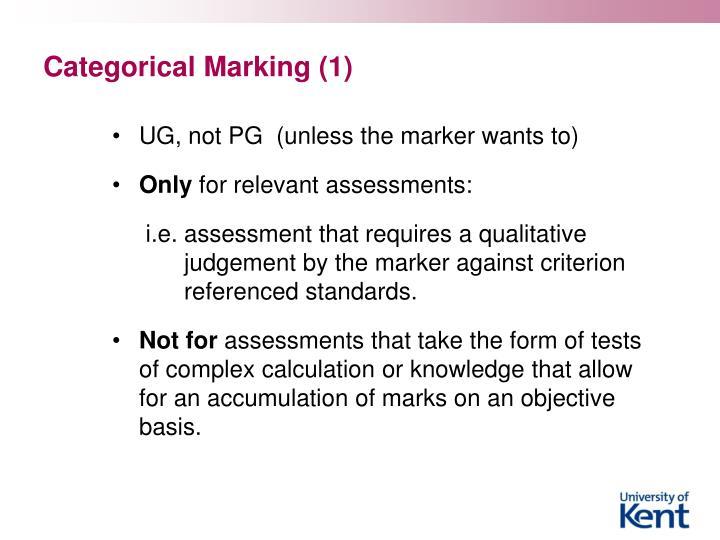 Categorical Marking (1)