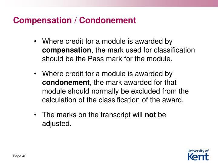 Compensation /
