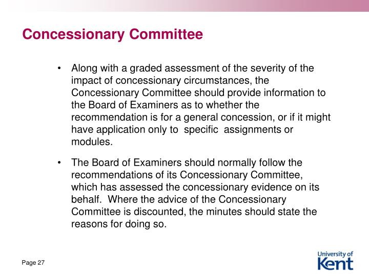Concessionary Committee