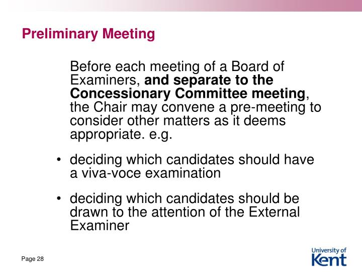 Preliminary Meeting
