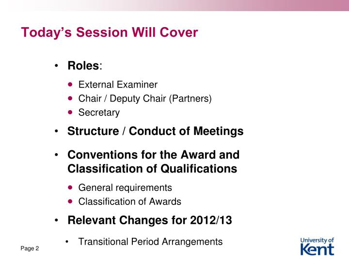 Today's Session Will Cover