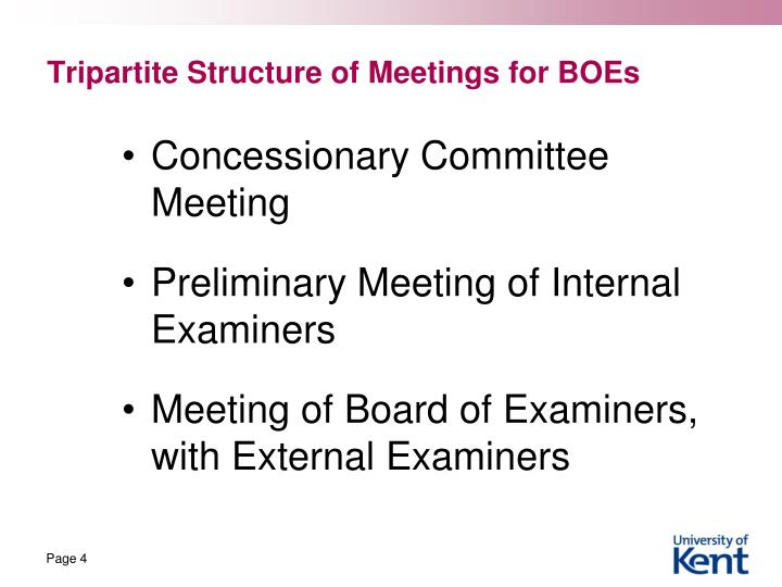 Tripartite Structure of Meetings for BOEs