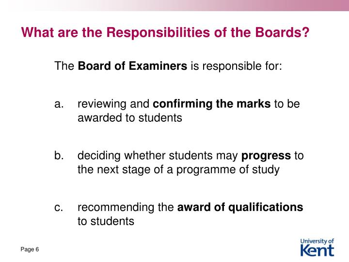What are the Responsibilities of the Boards?