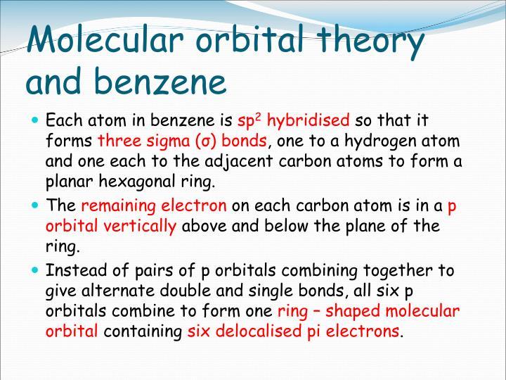 Molecular orbital theory and benzene