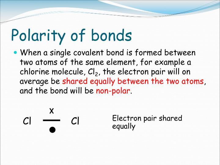 Polarity of bonds
