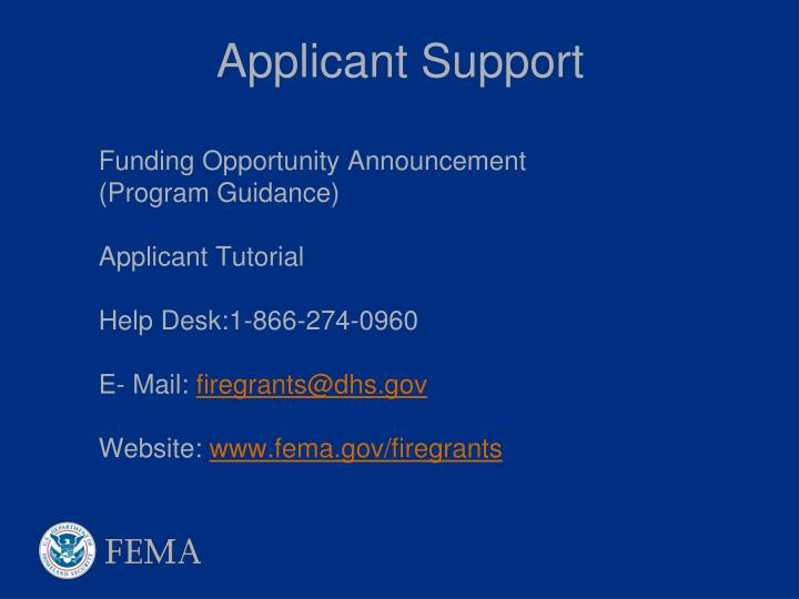 Applicant Support