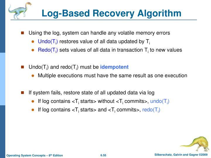 Log-Based Recovery Algorithm