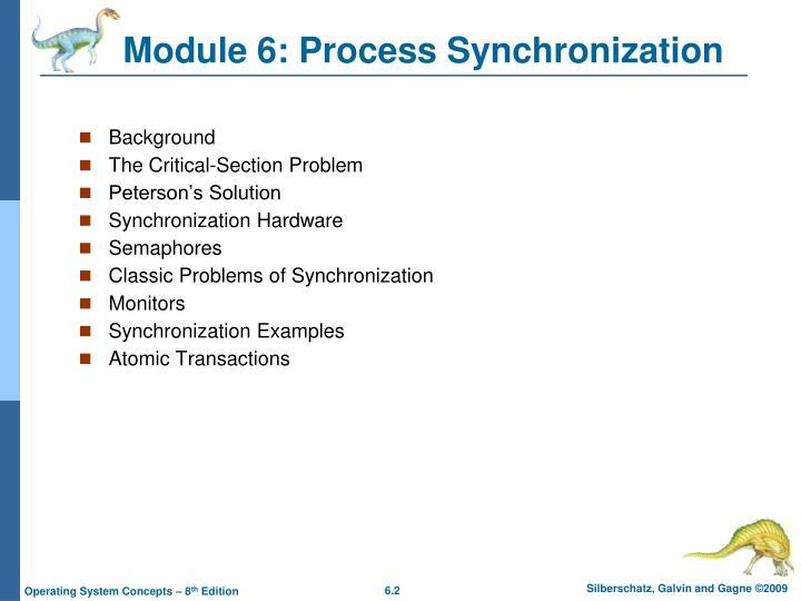 Module 6: Process Synchronization