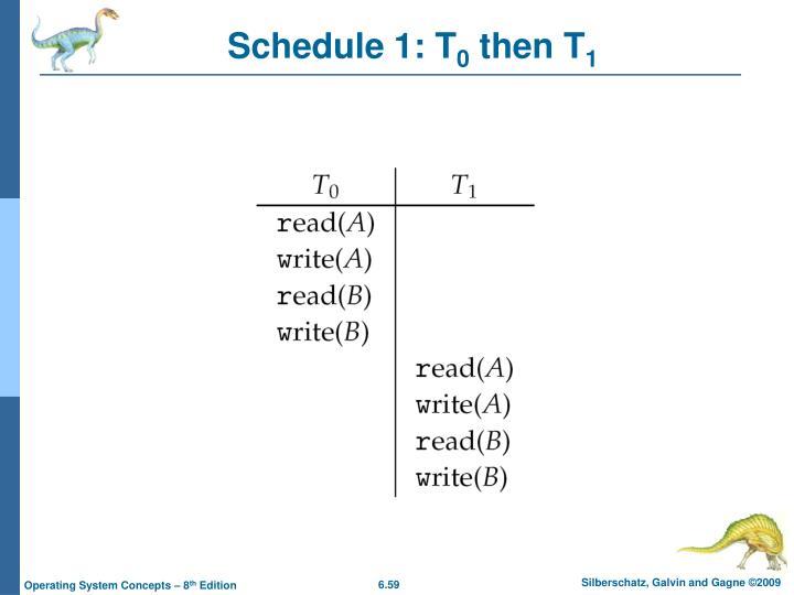 Schedule 1: T
