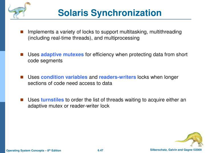 Solaris Synchronization