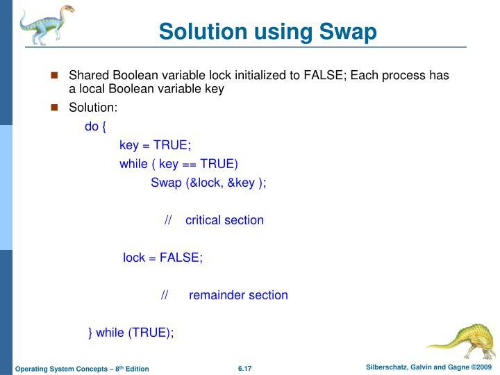 Solution using Swap