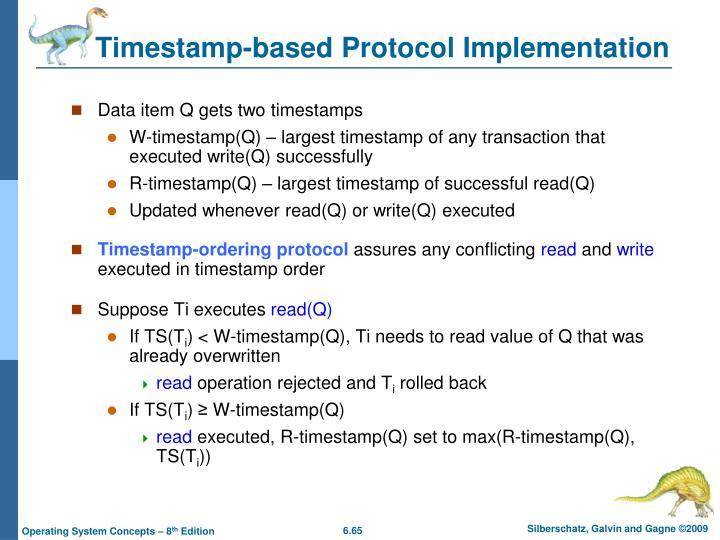 Timestamp-based Protocol Implementation