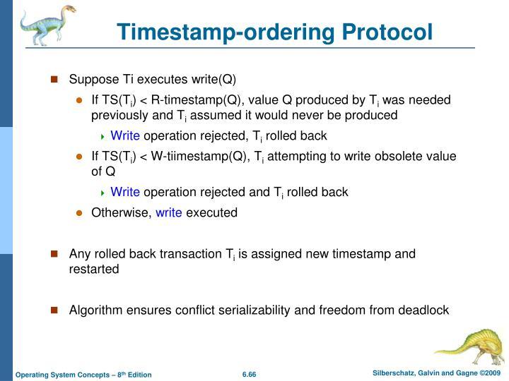 Timestamp-ordering Protocol