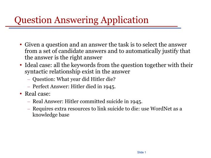 Question Answering Application