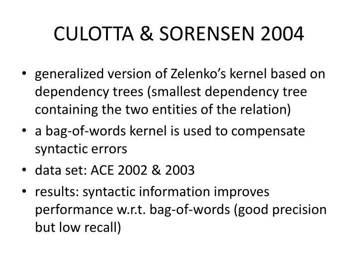 CULOTTA & SORENSEN 2004