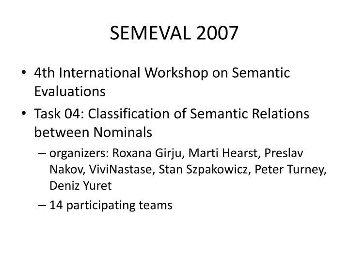 SEMEVAL 2007