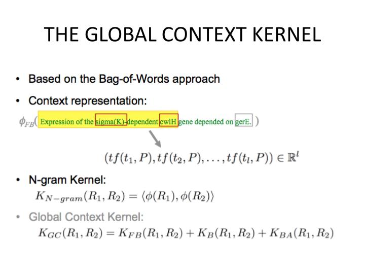 THE GLOBAL CONTEXT KERNEL