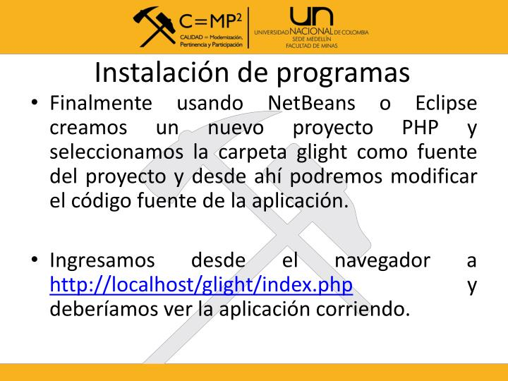 Instalación de programas