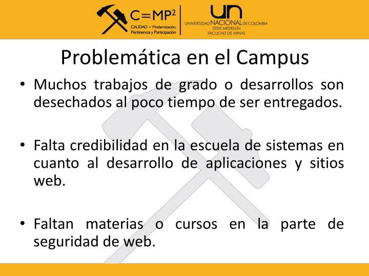 Problemática en el Campus