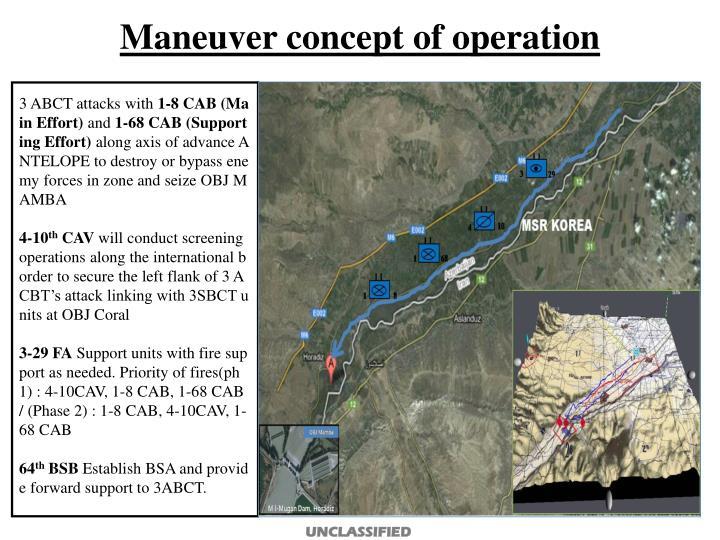 Maneuver concept of operation