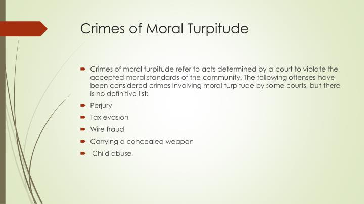 Crimes of Moral Turpitude