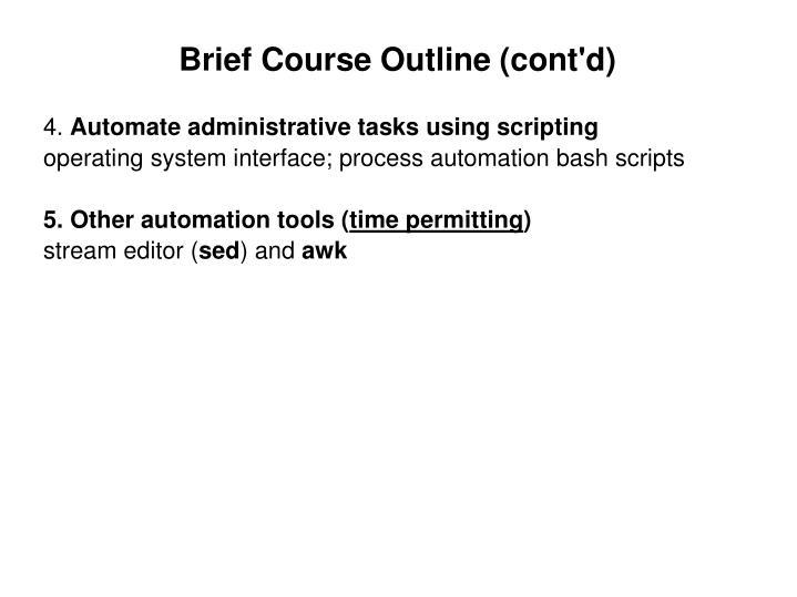 Brief Course