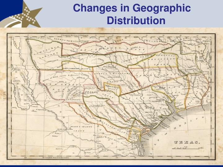 Changes in Geographic Distribution