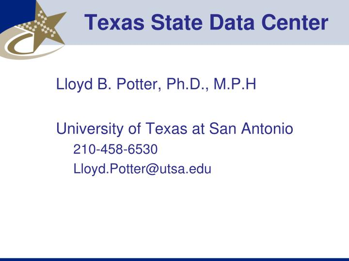 Texas State Data Center